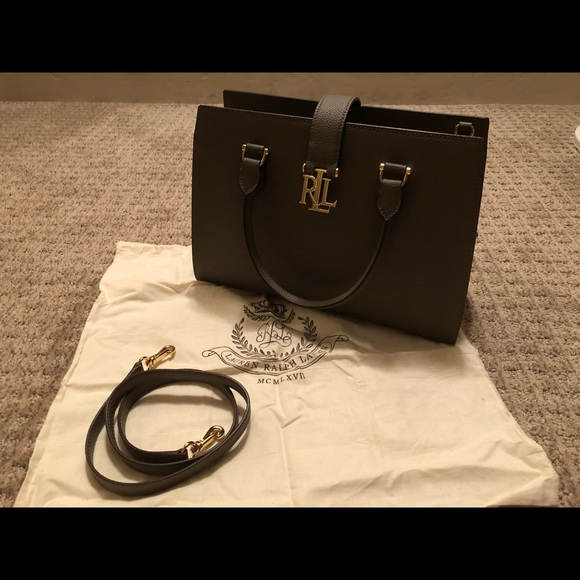 6ebed59c2d945 Lauren Ralph Lauren Handbags - Pebbled Brigitte II Medium Satchel - Falcon